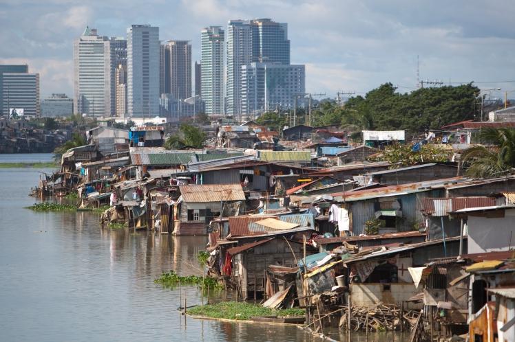 Squatter village around Pasig area Manila Philippines.