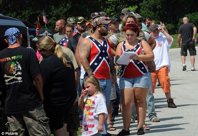 trump rednecks confederate flag